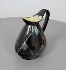 Rockabilly Keramik Design Vase Blumenvase Tisch Vase Krug Henkel Kanne 50er J.