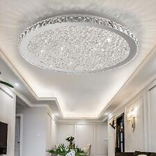 31.5 Inches Modern Crystal LED Ceiling Light LED Flush Mount Lighting Chandelier