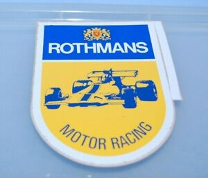 Vintage ROTHMANS MOTOR RACING F1 Sticker Adhesive  Original