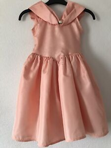 British Home Stores (BHS) Girls Peach Party Bridesmaid Dress Age 5