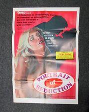 VINTAGE ADULT FILM X RATED MOVIE POSTER PORTRAIT SEDUCTION 27 X 40 CLASSIC PORN