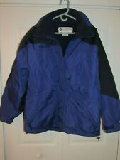 Mens Columbia Hooded Lined Purple/Black Ski Jacket Size L