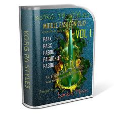 Korg Styles Middle Eastern 2017 Vol1 for Korg PA600/QT/900 PA3X PA4X