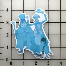 """Haunted Mansion Hitchhiking Ghosts 4"""" Tall Vinyl Decal Sticker BOGO"""