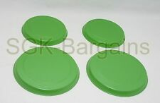 STAINLESS STEEL METAL ELECTRIC COOKER HOB RING COVER PROTECTOR SET 4 GREEN 177