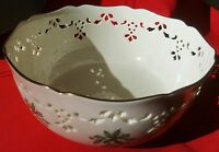 Lenox China Holiday (Dimension) CUTOUT LARGE SERVING BOWL - MINT CONDITION!!!