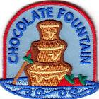 CHOCOLATE FOUNTAIN Iron On Patch Desserts Treats