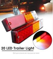 2x 20 LED Truck Trailer Rear Tail Light Turn Signal Indicator Brake Light 12V
