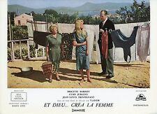 BRIGITTE BARDOT CURD JÜRGENS ET DIEU CREA LA FEMME 1956 LOBBY CARD ORIGINAL #5