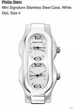 New PHILIP STEIN Mini Signature Dual Time Zone Diamond Size 4 Watch Head $925