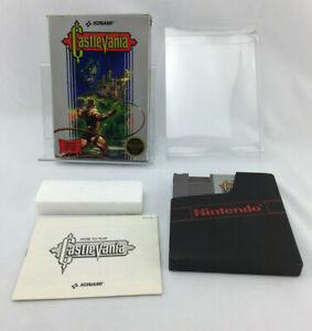 Castlevania Nintendo NES Complete CIB w/ Protector Early Run - Circle Logo