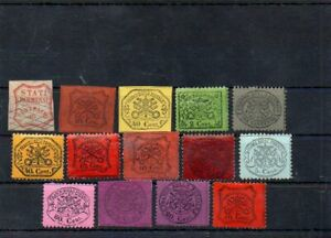 Vatican 14pc old Kirchenstadt stamps collection