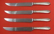 Margaret Rose by National Sterling Silver Steak Knife Set 4pc Texas Sized Custom