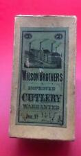 OLD ANTIQUE VINTAGE WILSON BROTHERS EMPTY POCKET KNIFE BOX