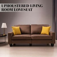 Fabric Loveseat 3 Seater Couch Futon Sofa Upholstered Living Room Furniture
