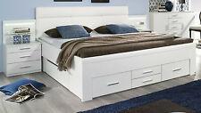 Rauch Bett mit 6 Schubkästen Funktionsbett Schubkastenbett Stauraumbett weiß