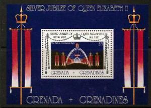 GRENADA GRENADINES SGMS242 1977 ROYAL VISIT MNH