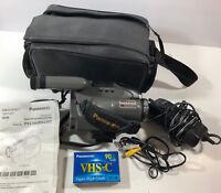 Panasonic Palmcorder PV-L680D VHS-C Analog Camcorder Tested Working Bundle Lot