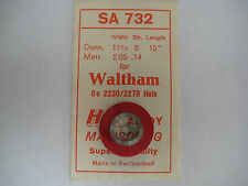 "WALTHAM P/W MAIN SPRING #2230    0s & 3/0s     "" WHITE ALLOY ""    MODEL 1907"