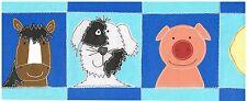 DUCK HORSE DOG PIG CHILDRENS FAVORITES Wallpaper bordeR Wall KIDS BABY CARTOON