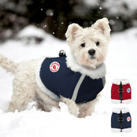 Small Dog Harness Winter Cat Puppy Pet Clothes Wam Fleece Vest French Bulldog