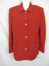 Salvatore Ferragamo Vintage  Women Blazer Jacket Size 10 Brick Red Gold Buttons