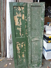 """PR c1840-50 PANELED house shutters forged hardware GREAT patina 64 x 14.5x 1.25"""""""