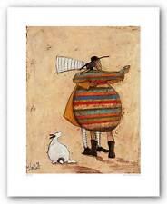 DOG ART PRINT Dancing Cheek to Cheeky Sam Toft 11.75x15.25