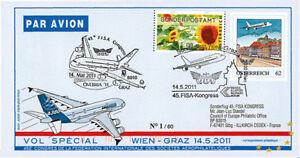 """A380-132 FFC AUTRICHE à bord """"Vol Wien-Graz - Airbus A380 Ovebria 11"""" 2011"""