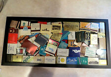 Framed International matchbook covers   20 3/4 x 9 3/4  #250