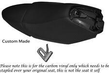 CARBON FIBRE VINYL CUSTOM FITS YAMAHA XQ 125 MAXSTER  REAL SEATS COVERS