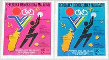 """Madagascar MALAGASY 1987 1052-53 786-87 1st sport games Indian """"Ocena towns MNH"""