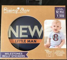 New Rising Star Milestone Belly Stickers New Little Man