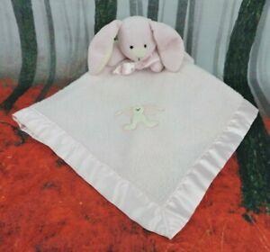 Blankets & Beyond Pink Bunny Rabbit Lovey Security Blanket Satin Edges Girls
