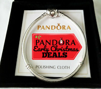 Pandora Moments Heart Clasp Snake Chain Bracelet 590719 7.5 or 7.9 With BOX
