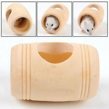 New listing Hamster Mice Gerbils Wooden Tunnel Tube House Playground Rodent Cage Roller Toy