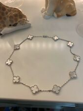 Collar estilo Van Cleef plata 925 madre de perla
