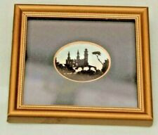 Attractive Miniature Framed & Glazed Silhouette