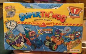 Superthings Spyjet. Secret Spies Series Box of 8 packs. Super Zings.