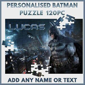 Personalised Batman Puzzle - 120pc Jigsaw - Name Gift, Kids Birthday, Christmas