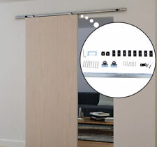 Sliding Barn Door Hardware Kit 6.1 FT Wood Modern Hang Style Track Rail Set Pack