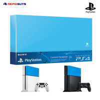 Ps4 Sony Genuine Playstation 4 Aqua Blue Custom Faceplate HDD Case Top Cover