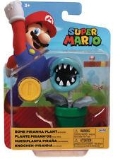 Super Mario World Of Nintendo 4 Inch Action Figure Wave 21 - Bone Piranha Plant
