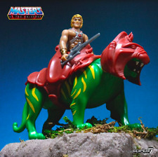 Super7 ReAction Masters Of The Universe He-Man & Battle Cat Action Figure