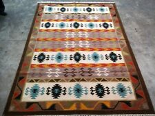Old Traditional Turkish Oriental Hand Made Brown Blue Wool Large Kilim 150x240cm