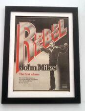 JOHN MILES Rebel 1976*ORIGINAL*POSTER*AD*FRAMED*FAST WORLD SHIP