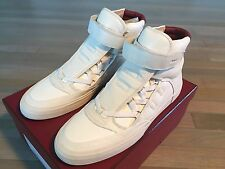 Bally White Eartly Leather High Tops SNEAKERS Size US 10