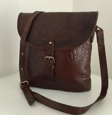 Vintage Mulberry Rich Brown Nile Print Leather Binocular Shoulder/Crossbody Bag