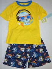 CUTE Kids Circo Rock-N-Roll Skull Pajama PJ Set Shirt & Shorts Boys sz S 6/7