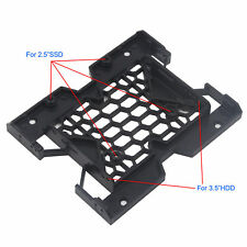 """5.25"""" to 3.5"""" 2.5"""" SSD HDD Tray Caddy Case Adapter Cooling Fan Mounting Bracket"""